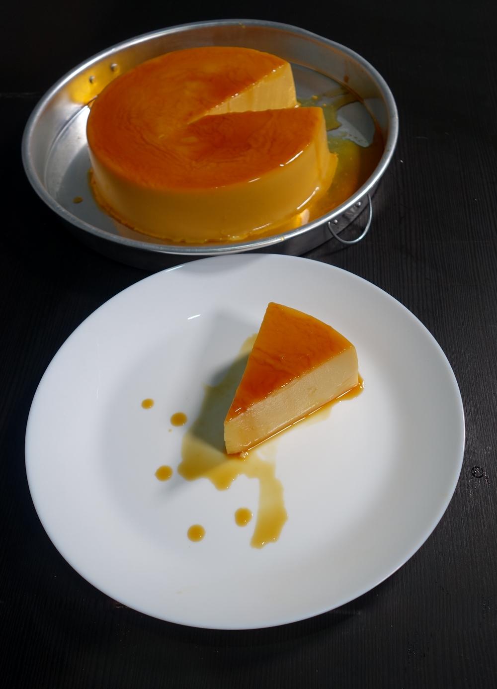 Puding karamel gula hangus tanpa telur