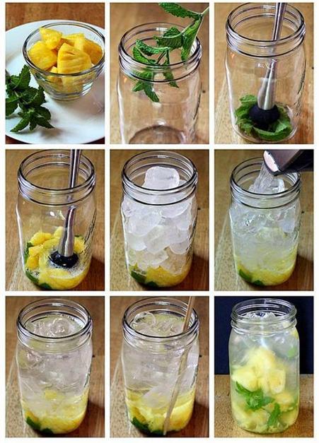 Langkah demi langkah menyediakan air detox