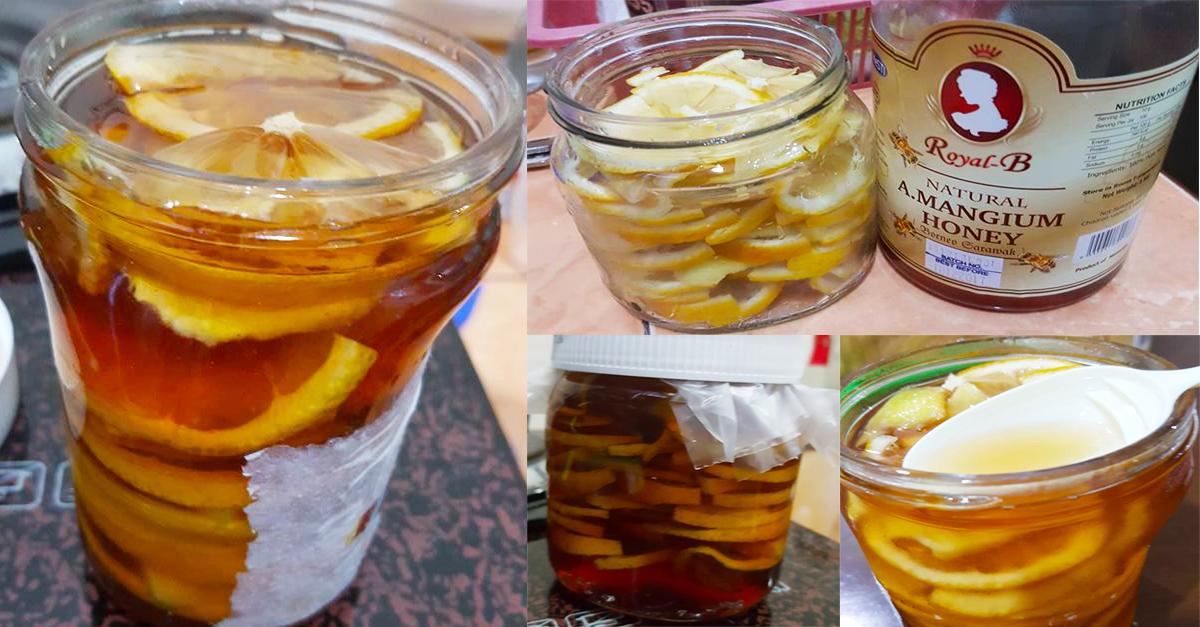 petua hilangkan batuk , hilangkan batuk tradisonal , campuran madu lemon , madu halia