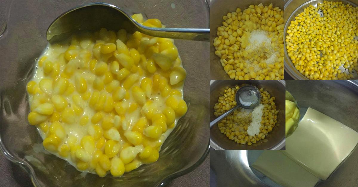 cra buat jagung kukus , jagung kukus manis , resepi jagung kukus manis , jagung kukus cheese