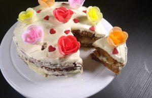 carrot cake , resepi membuat carrot cake , cream cheese
