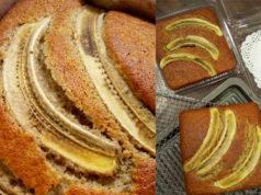 Lepas ni ada pisang masak je , buat kek pisang sukatan cawan la sebab senang tak perlu mixer bagai. Kacau dengan tangan je tapi hasil best sangat lembut.