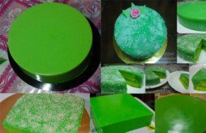 Apa kata untuk anda yang mahu cari pendapatan, cuba belajar buat kek pandan layer yang mudah dan sedap ni.Hasilnya, kek jadi lebih menarik dan cantik kan.
