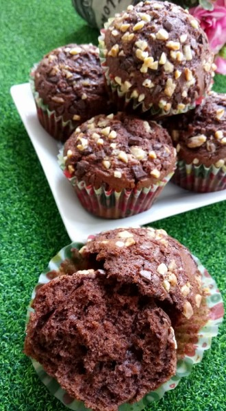 resepi muffin coklat