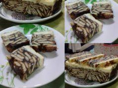 Sedapnya resepi kek batik cheese yang mudah ni.Tips untuk mudah keluarkan kek batik ,gunakan plastik pada lapisan bawah.Cream cheese tuk permukaan kek batik pula boleh guna dari brand Tortura.Biskut untuk kek batik cheese ni boleh guna biskut Marie atau Digestive.