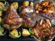 Untuk dapatkan ayam panggang yang berkilat, boleh keluarkan ayam 5 minit sebelum masak dan sapu sedikit marjerin pada bahagian luar , ayam akan jadi berkilat juicy.Untuk anda yang suka resepi ayam bakar sedap dan mudah, memang kena cuba tau dua resepi ayam panggang lengkap ni.