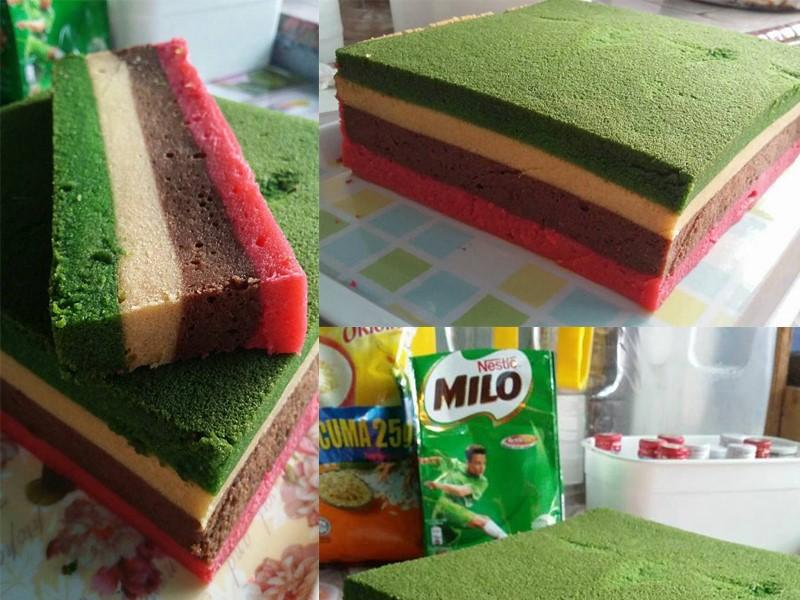 resepi kek kukus mudah  lapis  hari lebaran nanti daridapurcom Resepi Kek Guna Gelatin Enak dan Mudah