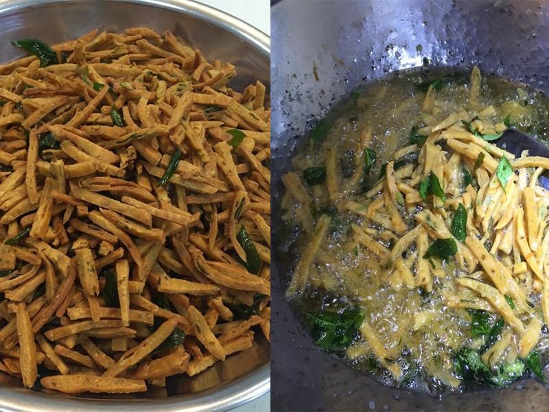 2 versi kuih gunting yang pasti memikat selera anda.Satu resepi kuih gunting kari rangup beraroma dengan daun kari dan resepi kuih gunting sira.Sedap