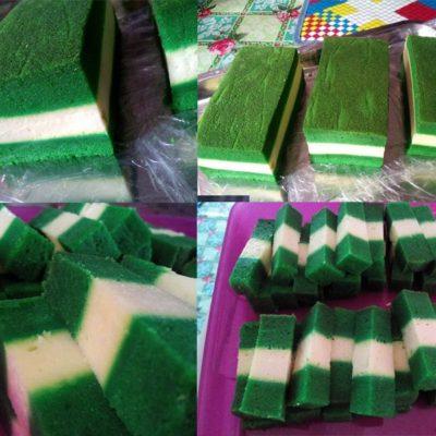 Sedapnya kek lumut cheese yang tak gunakan baking powder ni.Memang hasil original kek Sarawak. Kami berikan cara simpan kek lumut supaya tahan lama. Lapisan cream cheese pada bahagian tengah kek lumut memang betul-betul terasa.Selamat mencuba resepi kek lumut cheese ini.