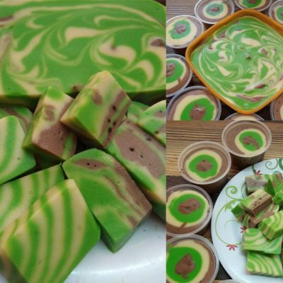 Sedapnya resepi puding roti marble ni.Bukan sahaja sedap tapi cantik kombinasi warna hijau dan juga coklat.Kalau anda ada roti ,boleh la buat puding ni.