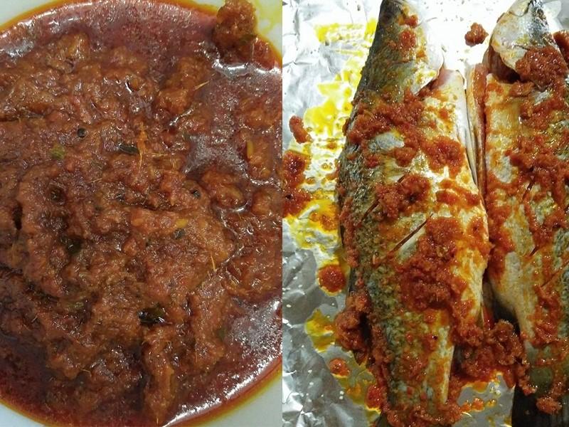 Sedapnya buat ikan bakar berempah menggunakan pes sambal ni.Memang sesuai dengan ikan dan sotong bakar berempah.Memang beraroma bakar atas arang