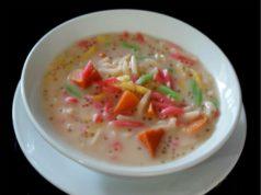 Bila terasa lapar bubur mulalah mencari resepi bubur cha cha ni.Sedap tambah dengan ubi keledek oren sago.Memang pekat dan manis semula jadi buburnya.
