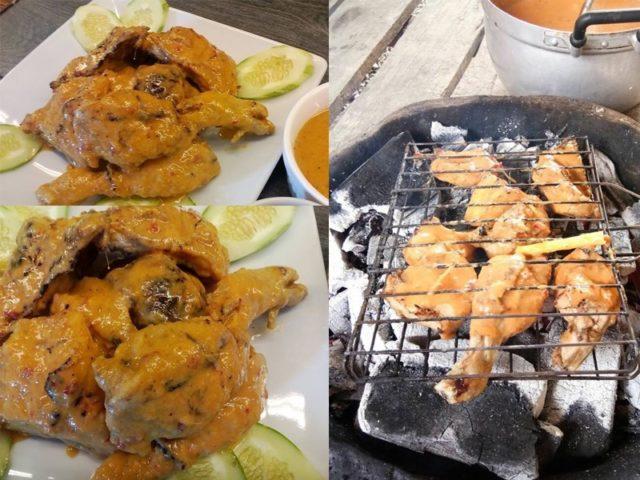 Sedapnya resepi ayam percik Kelantan ni.Dengan kuah percik yang pekat elok sebati di atas isi ayam yang direbus dengan bahan perap istimewa,memang best.