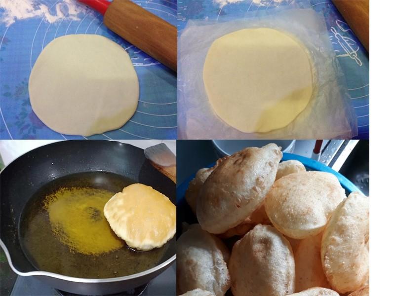 Sedapnya dua versi resepi roti puri ni.Satu yang biasa satu yang ringkas.Tapi tetap lembut dicicah dengan sambal bilis atau kari ayam.Rotinya lembut.