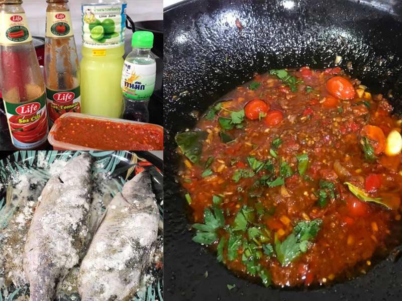 Apakata cuba resepi ikan siakap 3 rasa yang menarik dengan cara ni.Memang sedap betul rasa sos nya. Ikan pula goreng rangup di luar,lembut di dalam.Best