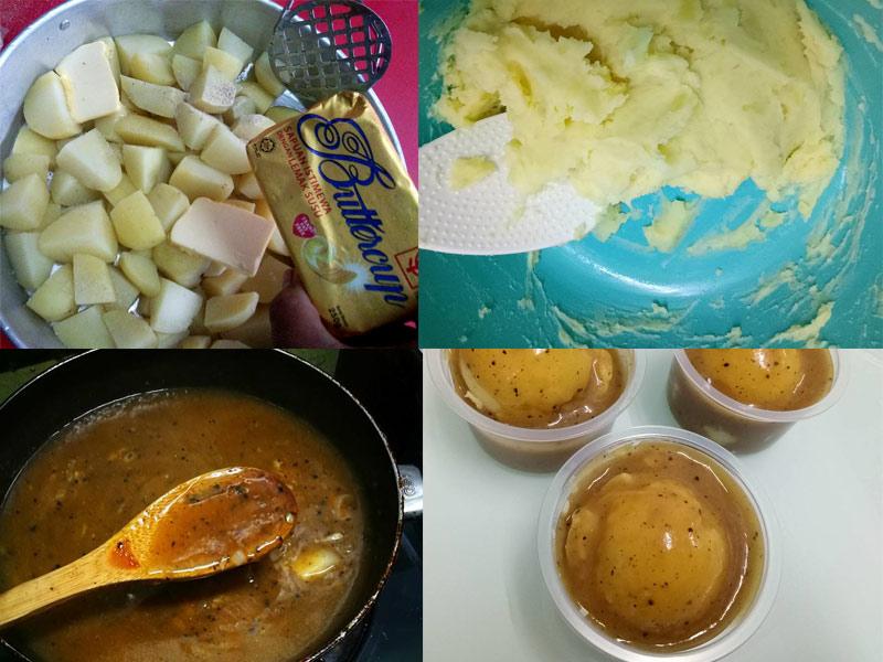 Ini baru sedap resepi kentang putar cara macam ni. Memang puas hati makan dengan lamb chop chicken chop ni. Nanti boleh la cuba mashed potato ni. Best