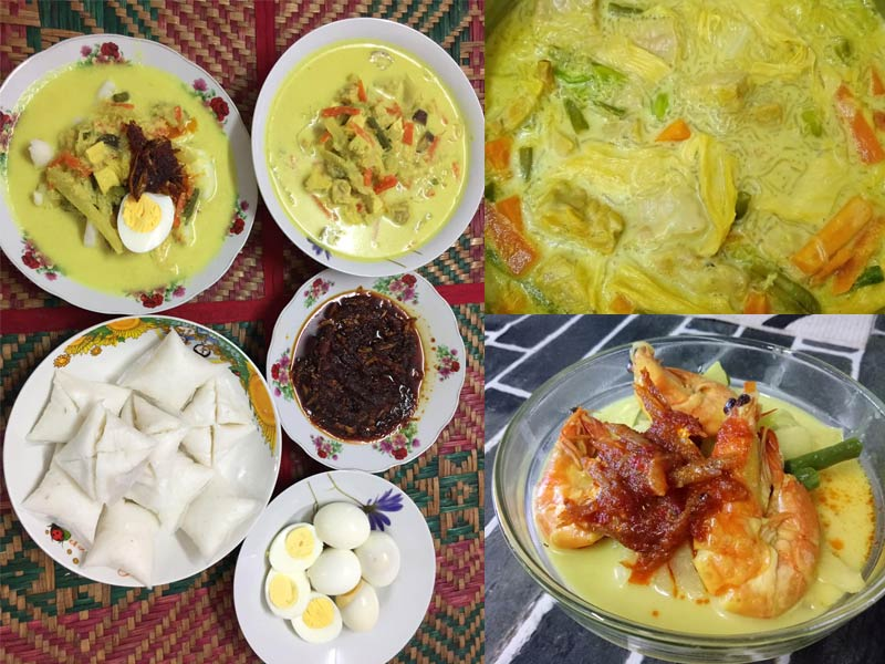 Resepi Lontong Johor Kuah Lodeh 2 Versi Kenduri Dan Harian