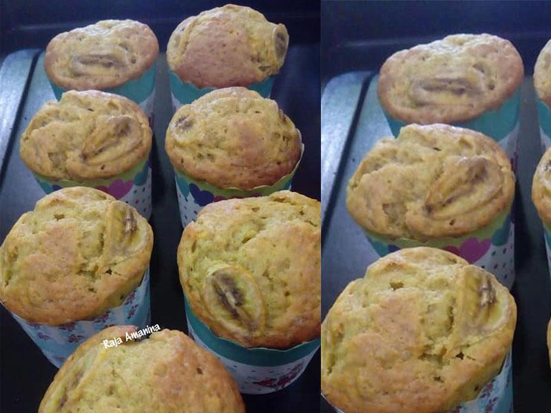 Kalau jemu makan makan muffin coklat, apakata cuba resepi muffin pisang yang harum semerbak ni. Memang kena untuk minum petang bersama air kopi panas kan. Sedap.