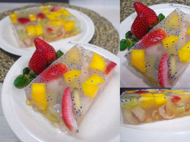 Kami berikan resepi puding buah mangga, strawberi dan buah kiwi untuk anda rasai sendiri kenikmatan puding ini bila dimakan waktu panas.Aduhai sedapnya