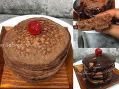 Memang sedap sangat resepi pancake coklat eco ni. Sebabnya ianya dah ditambah dengan bahan premium lain. Lembut dan gebu. Boleh la anak bawa bekal ke sekolah
