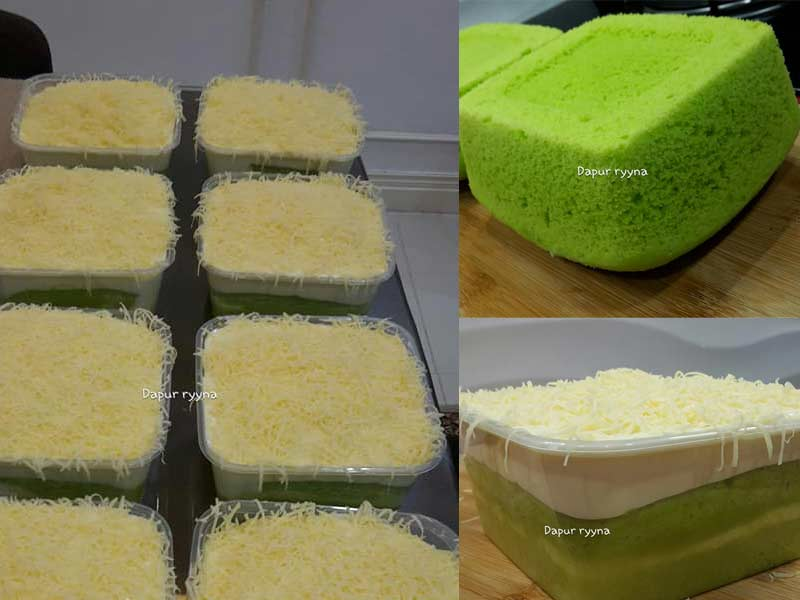 Resepi Kek Pandan Cheese Melimpah Best Sangat Dan Mudah Buat