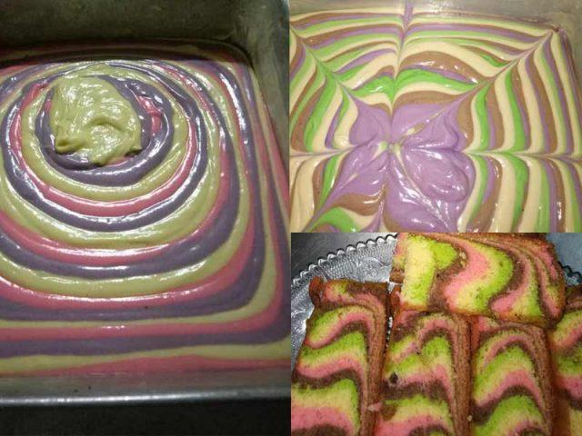 Senang nak buat resipi kek marble pelangi yang gebu seperti ini bila dah disenaraikan lengkap bahan resipi dan juga diberikan tips menarik kan.Boleh la buat