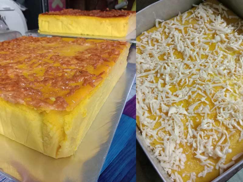 Resepi Bingka Labu Cheese Garing Best Bahagian Luar Sedap