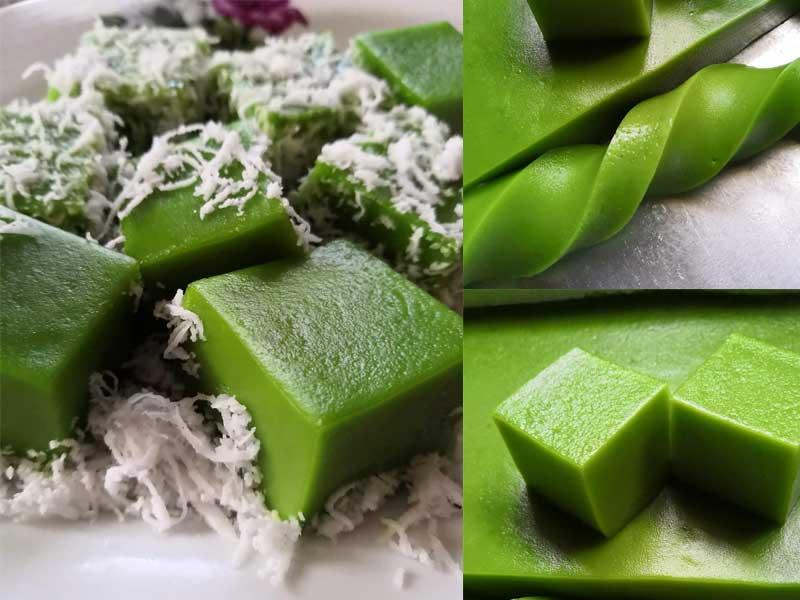 Kalau sebelum ni dah ada resepi kaswi gula melaka, jom hari ini kita buat resepi kaswi pandan yang sama sedap. Nak bertambah sedap,gunakan jus pandan asli