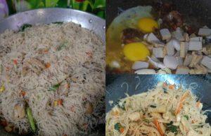 resepi bihun singapore yang sangat sedap untuk anda buat. Ganding pula dengan sambal kicap power, memang tak menyesal buat menu ini untuk sarapan pagi