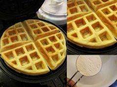 Resepi waffle sukatan cawan ini sangat mudah dan lembut untuk anda buat makan sarapan pagi. Waflle yang disapu dengan nutella, strawberi, coklat memang sedap