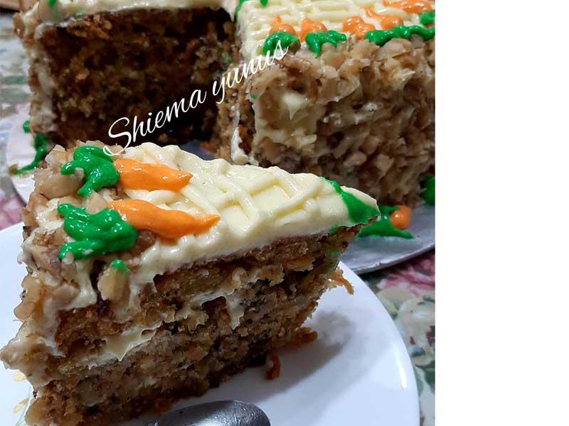 Jom kita buat resipi kek carrot sedap.Dengan campuran lobak merah, serbuk kulit kayu manis dan walnut, memang memberi kelainan berbanding kek-kek sedia ada.