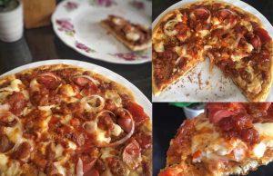 Apakata anda buat sendiri resepi pizza lembut yang sangat menggoda ini. Boleh nak letak topping apa yang anda rasa nak makan. Letak sepuas hati. sedapp