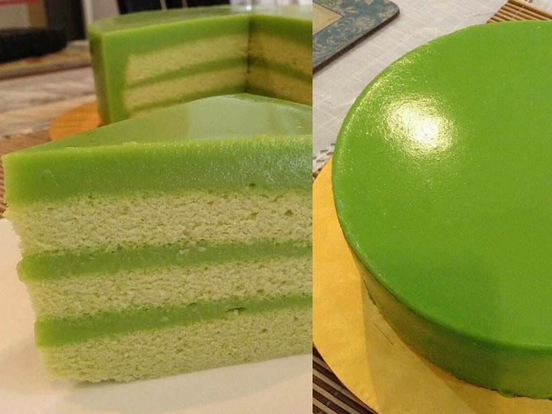 Kami kongsikan resipi kek pandan kastard yang sangat menggiurkan . Dengan kek span yang lembut dan dilitupi oleh adunan kastard, memang menyelerakan.