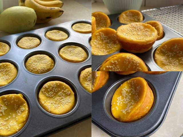 Menarik resipi bingka labu dalam bekas muffin ni. Bukan sahaja mudah dikeluarkan bila masak, mudah makan tapi boleh dapatkan rasa garing lebihh.