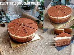 Kami nak berikan resepi triple chocolate mousse cake oleh Mr Ali ini. Tak nak tulis panjang sebab beri laluan pada tips dan resepi yang perlu anda ikut
